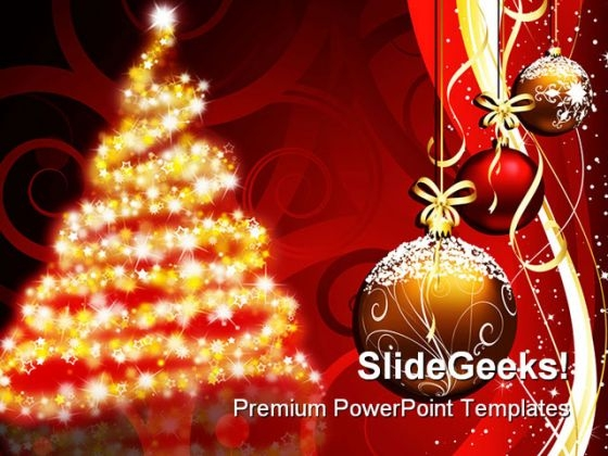Christmas Tree Festival PowerPoint Backgrounds And Templates 1210