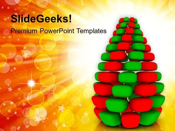 Christmas Tree On Abstract Background PowerPoint Templates Ppt Backgrounds For Slides 1212