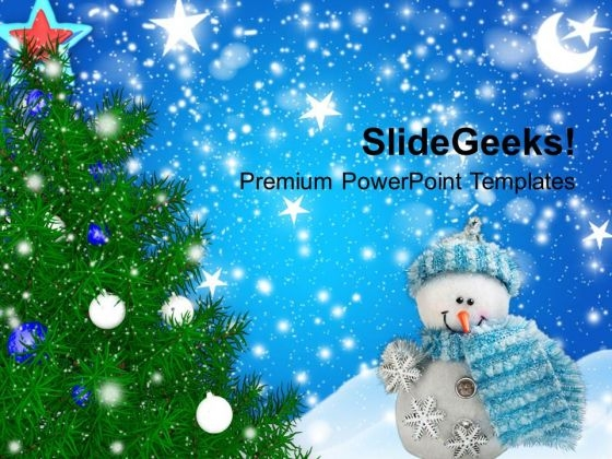 Christmas Tree With Filigrees Background PowerPoint Templates Ppt Backgrounds For Slides 1212