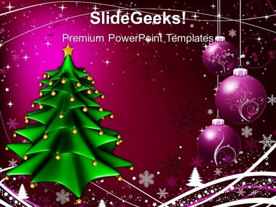 Christmas Tree With Winter Abstract Holidays PowerPoint Templates Ppt Backgrounds For Slides 1112