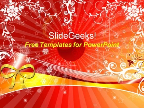 Lovely Christmas Background PowerPoint Template