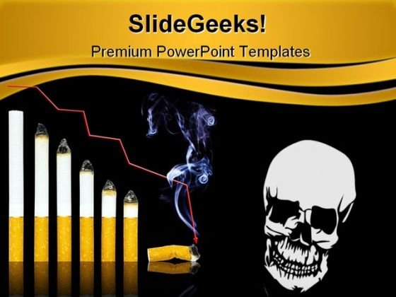 Cigarette Graph Health PowerPoint Templates And PowerPoint Backgrounds 0211