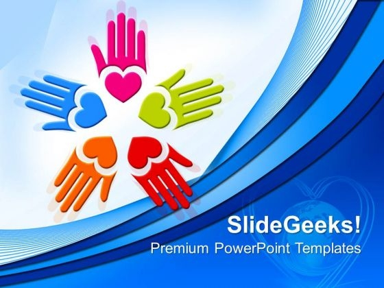 Circle Of Loving Hand People PowerPoint Templates And PowerPoint Themes 0612