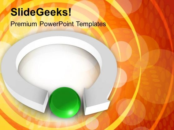 Circular Arrow Pointing Towards Leadership PowerPoint Templates Ppt Backgrounds For Slides 0213