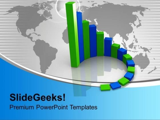 Circular Bar Graph Growth In Business PowerPoint Templates Ppt Backgrounds For Slides 0113