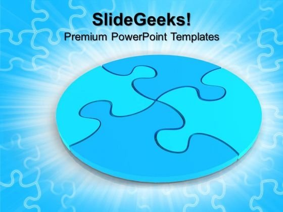 Circular Puzzle Business PowerPoint Templates And PowerPoint Themes 0712
