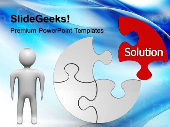 Circular Puzzle Solution Business PowerPoint Templates And PowerPoint Themes 0612