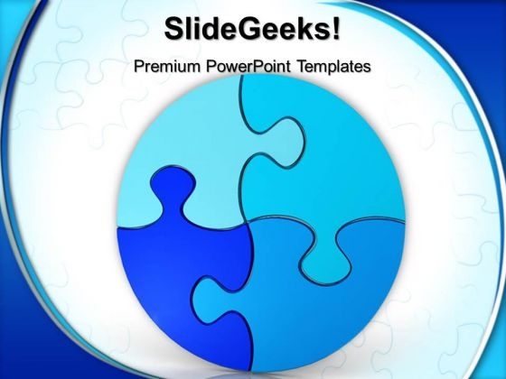 Circular Puzzle Teamwork PowerPoint Templates And PowerPoint Themes 0612