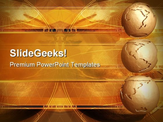 Clay Globes Abstract PowerPoint Templates And PowerPoint Backgrounds 0311