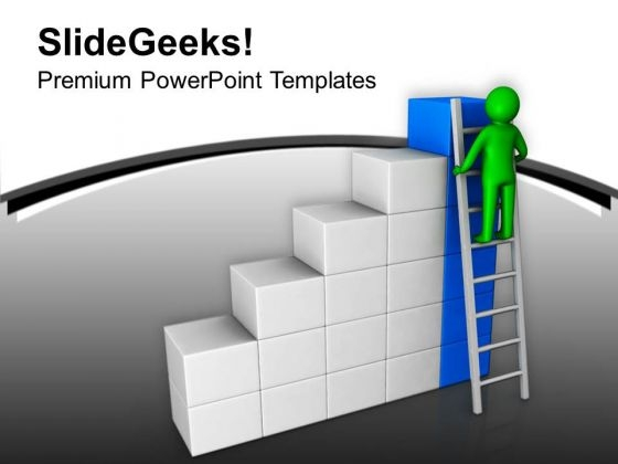 Climb The Top Level With Success Stair PowerPoint Templates Ppt Backgrounds For Slides 0713