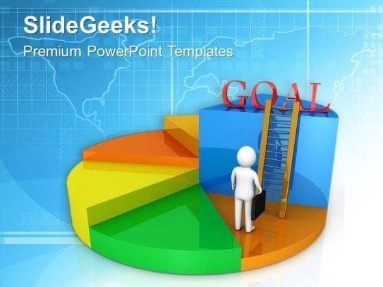 Climb Towards Goal Achievement PowerPoint Templates Ppt Backgrounds For Slides 0613