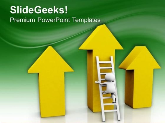 Climbing The Success Ladder PowerPoint Templates Ppt Backgrounds For Slides 0713