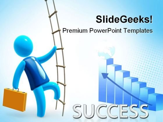 Climbing To Success Business PowerPoint Templates And PowerPoint Backgrounds 0611