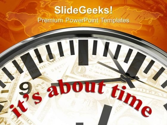 Clock About Time Planning PowerPoint Templates And PowerPoint Themes 0912