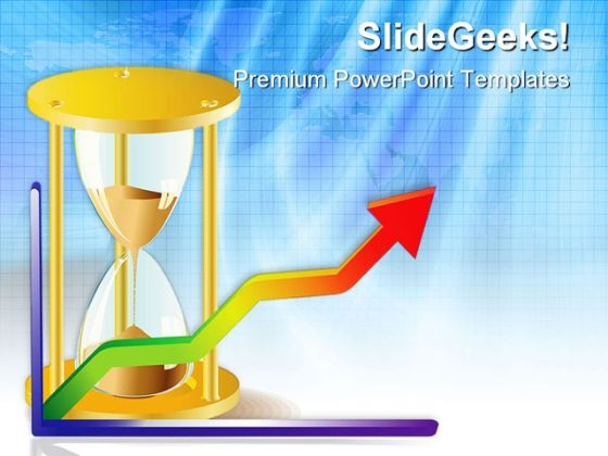 Clock Face And Graph Business PowerPoint Themes And PowerPoint Slides 0411