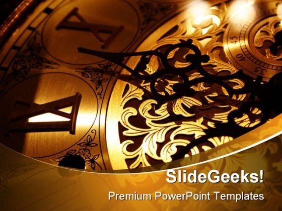 Clock Future PowerPoint Template 1110