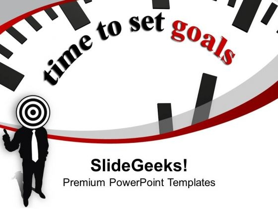 Clock Reminds Time To Set Goals PowerPoint Templates Ppt Backgrounds For Slides 0213