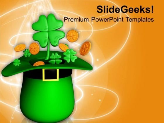 Clove And Hat For Patrick Day PowerPoint Templates Ppt Backgrounds For Slides 0713