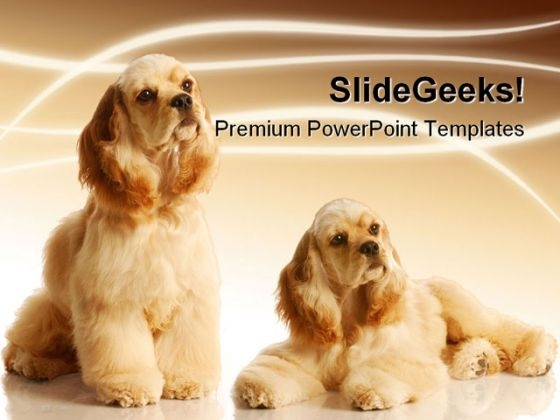 Cocker Spaniels Animals PowerPoint Themes And PowerPoint Slides 0211