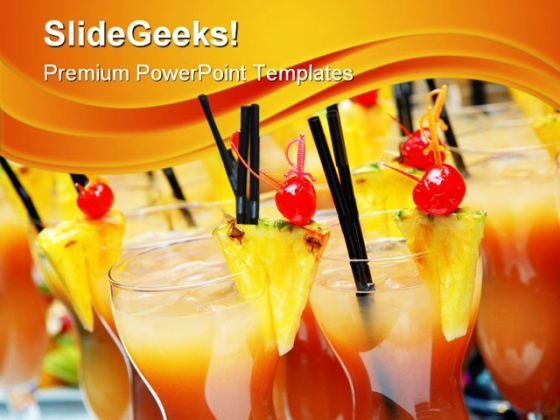 Cocktails With Slices Food PowerPoint Themes And PowerPoint Slides 0411