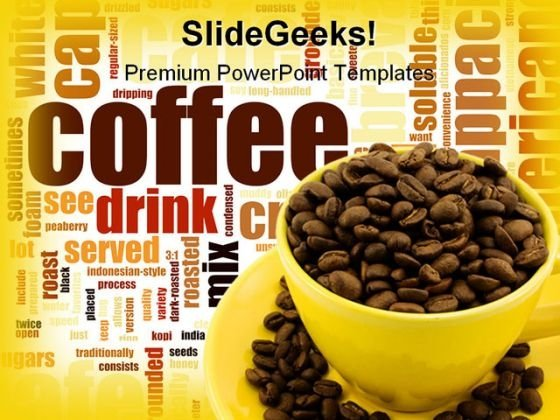 Coffee Food PowerPoint Template 0810
