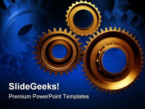 Cogwheels Industrial PowerPoint Themes And PowerPoint Slides 0511