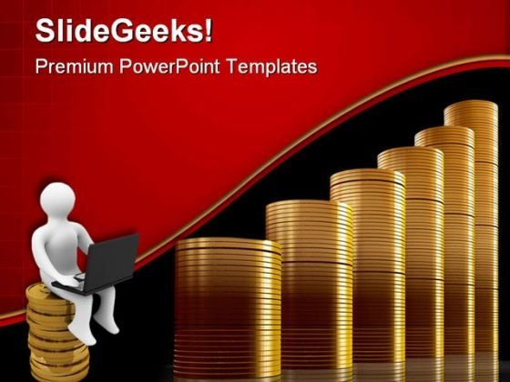 Coins Graph Business PowerPoint Themes And PowerPoint Slides 0511