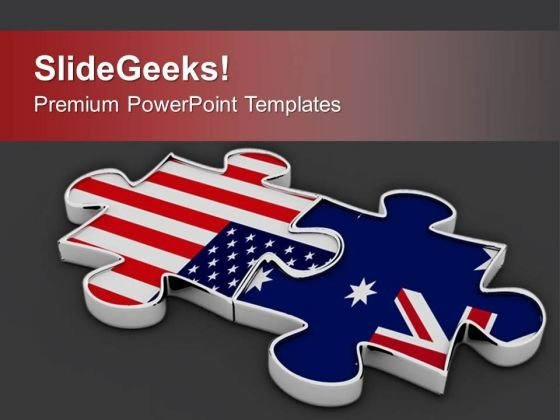 Collabration Of Us And Australia Business PowerPoint Templates Ppt Backgrounds For Slides 0413