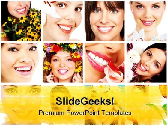 Collage Beauty PowerPoint Templates And PowerPoint Backgrounds 0711