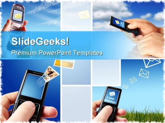 Collage Communication Internet PowerPoint Themes And PowerPoint Slides 0711