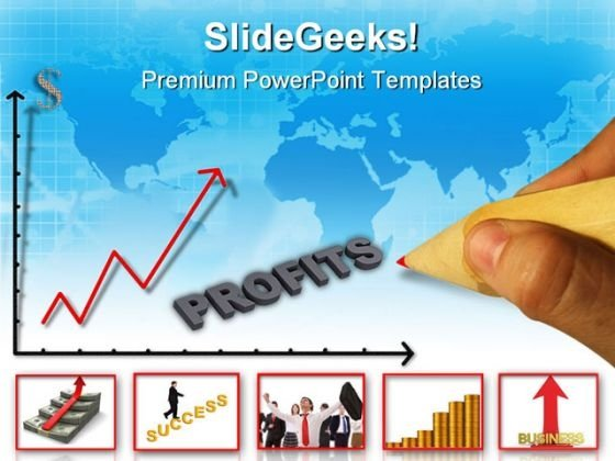 Collage Of Graph Success PowerPoint Themes And PowerPoint Slides 0511