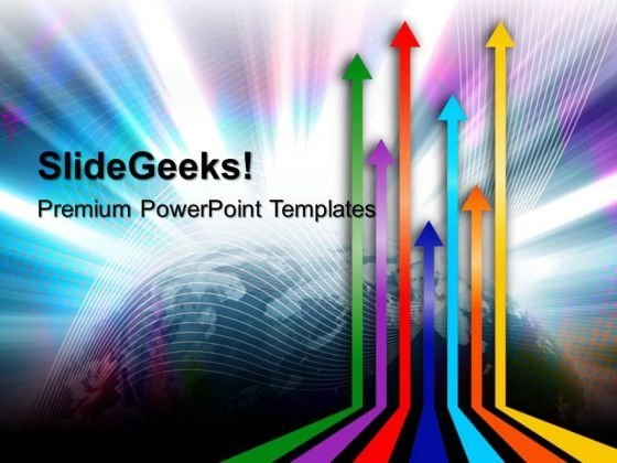 Colored Arrows Abstract PowerPoint Templates And PowerPoint Themes 0312