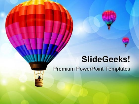 Colored Balloon Entertainment PowerPoint Templates And PowerPoint Backgrounds 0311