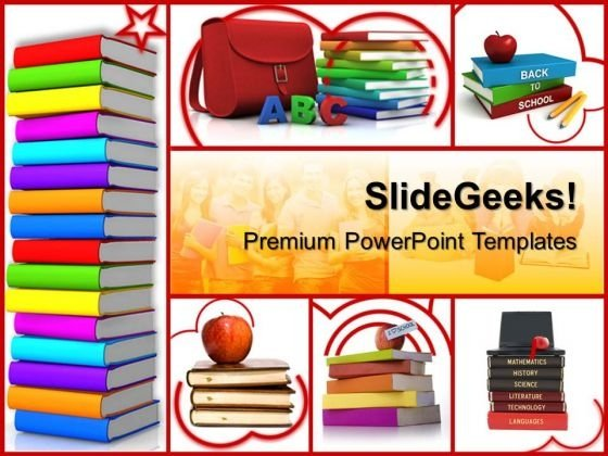 Colored Books Education PowerPoint Templates And PowerPoint Themes 0512