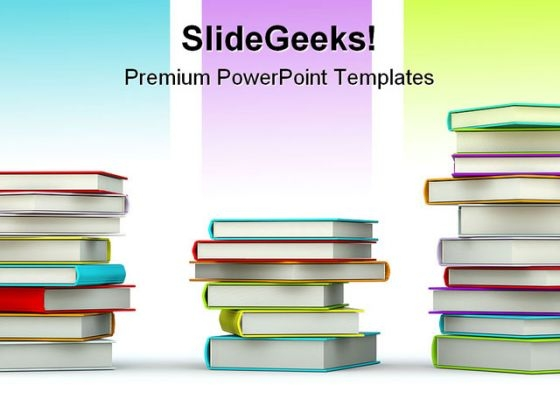 Colored Books Education PowerPoint Themes And PowerPoint Slides 0611