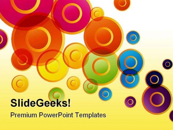 Colored Circles Shapes PowerPoint Themes And PowerPoint Slides 0411