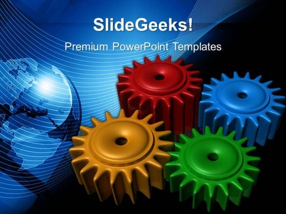 Colored Gearwheels PowerPoint Templates And PowerPoint Themes 0512