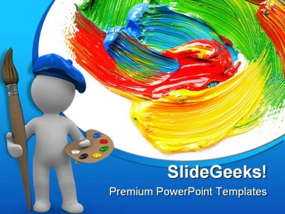 Colored Paint Art PowerPoint Themes And PowerPoint Slides 0511