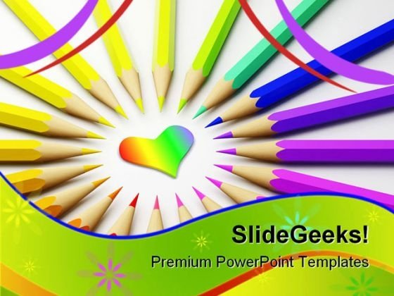 Colored Pencils01 Abstract PowerPoint Templates And PowerPoint Backgrounds 0911