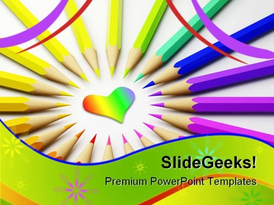 Colored Pencils01 Abstract PowerPoint Themes And PowerPoint Slides 0911