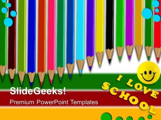 Colored Pencils01 Education PowerPoint Templates And PowerPoint Themes 0512