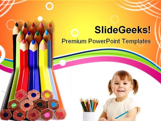 Colored Pencils01 Education PowerPoint Themes And PowerPoint Slides 0811