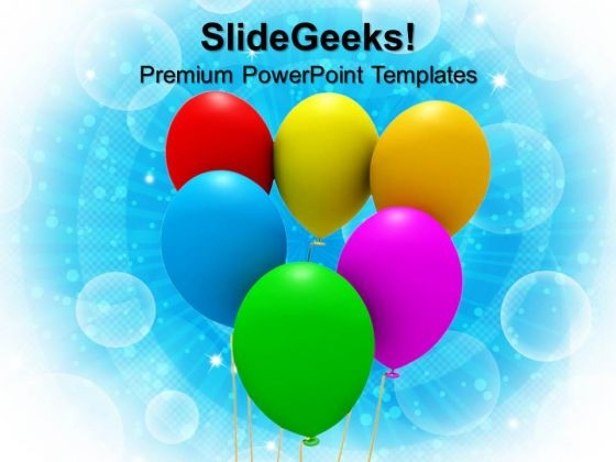 Colorful Balloons Party Birthday PowerPoint Templates And PowerPoint Themes 1012