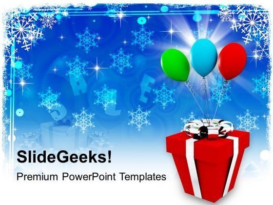 Colorful Balloons With Gift Holidays PowerPoint Templates Ppt Backgrounds For Slides 1112