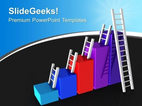 Colorful Bar Graph With Ladders PowerPoint Templates Ppt Backgrounds For Slides 1212