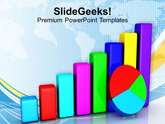 Colorful Bar Pie Chart Success PowerPoint Templates Ppt Backgrounds For Slides 1212