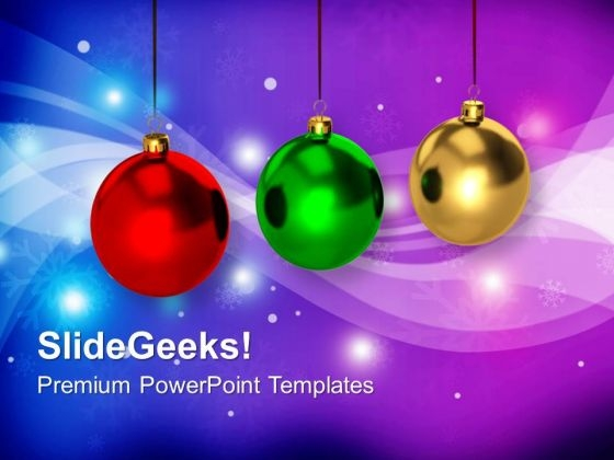 Colorful Baubles Christmas PowerPoint Templates Ppt Backgrounds For Slides 1212