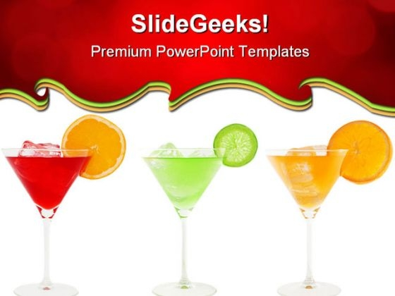 Colorful Cocktails Food PowerPoint Templates And PowerPoint Backgrounds 0511