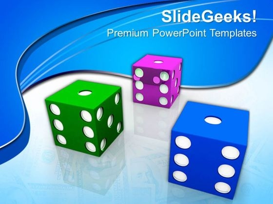 Colorful Dices Business PowerPoint Templates And PowerPoint Themes 0612