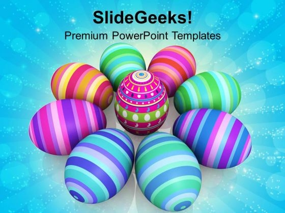 Colorful Easter Eggs Celebration PowerPoint Templates Ppt Backgrounds For Slides 0313